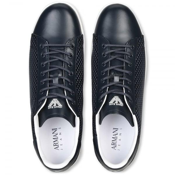 Do úschovny Do košíku. ARMANI JEANS pánské tenisky kožená obuv BLACK 2017 40d98b00cd2