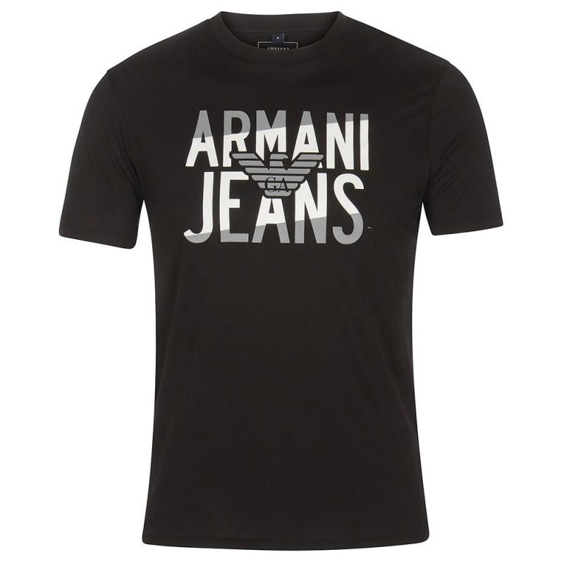 7c512c38fa ARMANI JEANS pánské tričko T-shirt BLACK černá