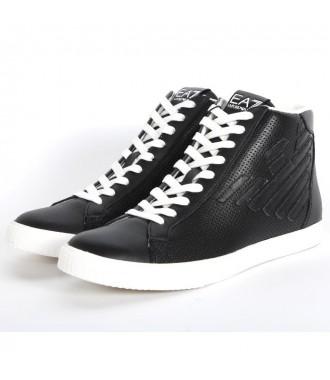 7ddb725fce EMPORIO ARMANI EA7 pánská kožená obuv kotníkové BLACK
