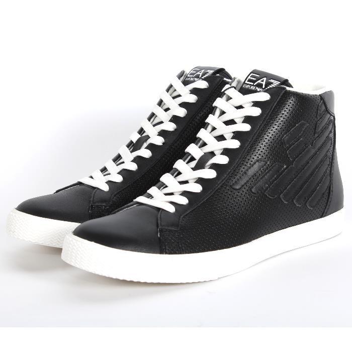 EMPORIO ARMANI EA7 pánská kožená obuv kotníkové BLACK černá 87b93c6c7fd
