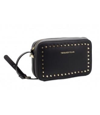 TRUSSARDI značková kabelka pošťačka dámská BLACK 15ac7b32218
