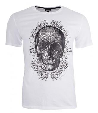 221d861c5723 JUST CAVALLI pánské tričko T-shirt 2019 WHITE