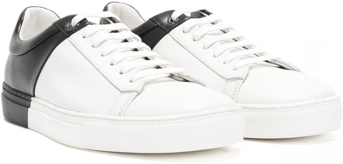 577558b3e6 HUGO BOSS pánské tenisky boty kožené WHITE BLACK bílá