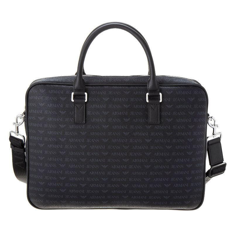 a3becc9952 ARMANI JEANS značková pánská brašna taška na notebook AKTOVKA černá ...
